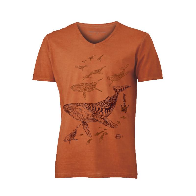 Baleines De Kanumera Terre M Shirt Le T Homme Champ 8POX0Nwnk