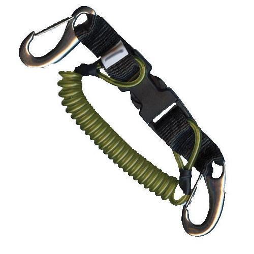 Dragonne 2 mousquetons Vela cable inox