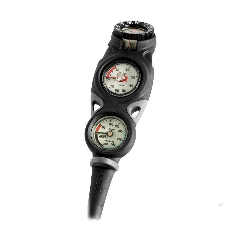 Console MISSION 3 MARES manomètre avec compas et profondimètre