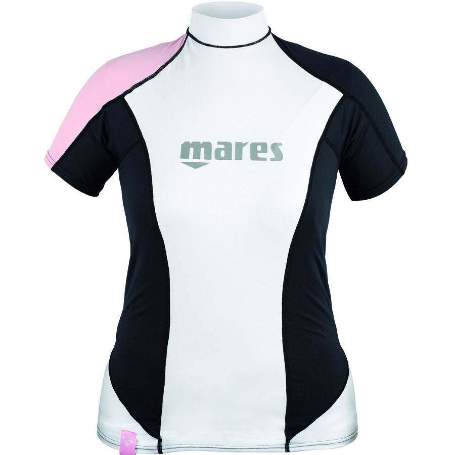 Top RASHGUARD She Dives MARES LOOSE FIT Manches Courtes Dame Rose 2016