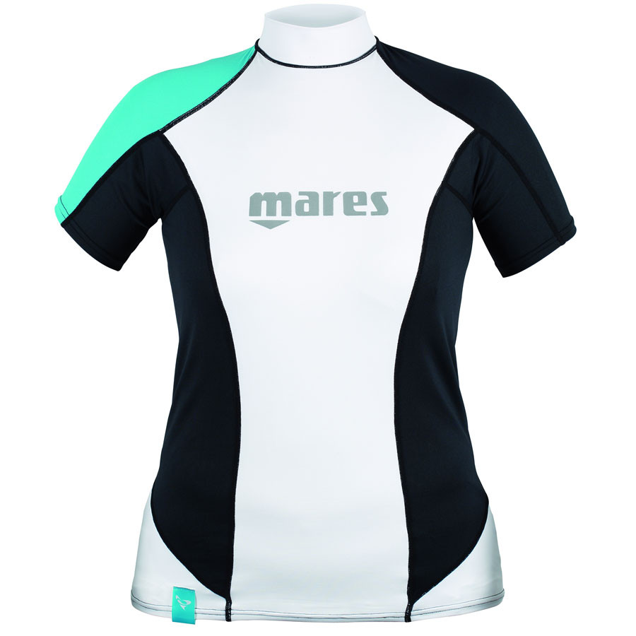 Top RASHGUARD She Dives MARES LOOSE FIT Manches Courtes Dame Vert 2016