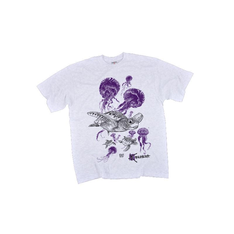 T-Shirt KANUMERA Le Banquet des Tortues Gris