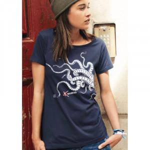 T-Shirt BIO KANUMERA LES TENTACULES Dame Marine