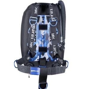 Harnais BLUE BATTLE Single Backmount Set MARES XR