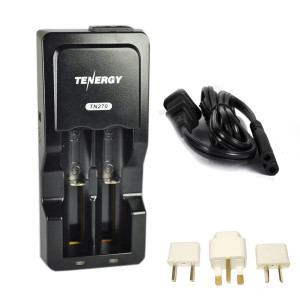 Chargeur de batterie Tenergy SEALIFE 3.7V + Adaptateurs Internationaux