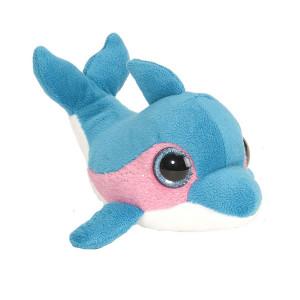 Peluche Dauphin bleu rose 13cm