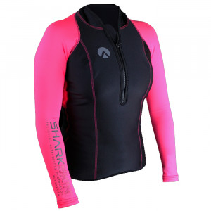 Lycra PERFORMANCE SHARKSKIN Manches Longues Rose Dame 8 XS