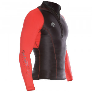 Lycra PERFORMANCE SHARKSKIN Manches Longues Rouge Homme L