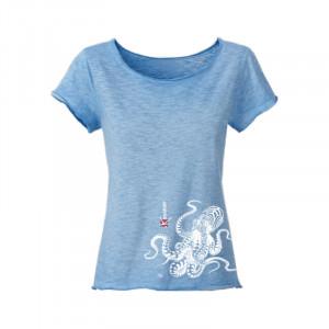 T-Shirt KANUMERA La Pieuvre Tatoo Dame Sky Blue