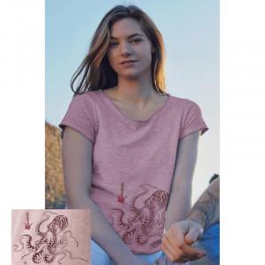 T-Shirt KANUMERA La Pieuvre Tatoo Dame