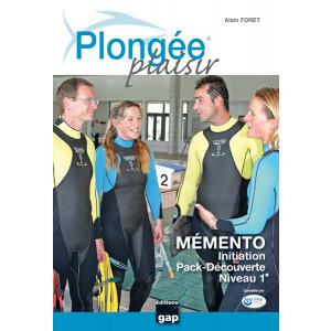 Livre Plongée Plaisir MEMENTO Initiation Niveau 1 GAP EDITIONS