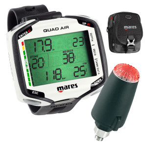 Ordinateur QUAD AIR MARES Blanc + Sonde + Diver Bag