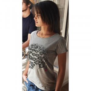 T-Shirt KANUMERA Le Ronde des Raies Dame Gris