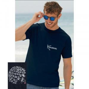 T-Shirt KANUMERA La Ronde des Raies Marine