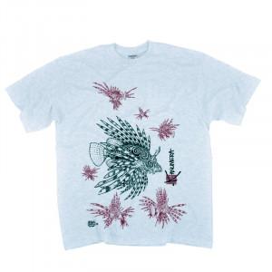 T-Shirt KANUMERA Le Nid de Rascasse Gris Chiné