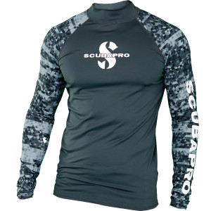 Lycra RASH GUARD GRAPHITE SCUBAPRO UPF 50
