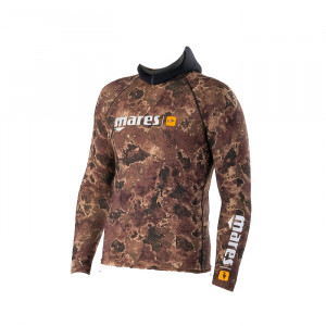 Top RASHGUARD CAMO BROWN MARES