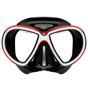 Masque REVEAL 2 AQUALUNG Noir Rouge
