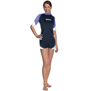 Top RASHGUARD Loose Fit MARES Manches Courtes Dame Lila