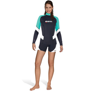 Top RASHGUARD Loose Fit MARES Manches Longues Dame Turquoise