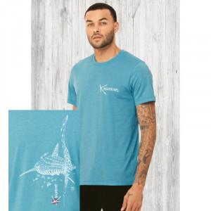 T-Shirt KANUMERA Le Requin Baleine AQUA CHINE