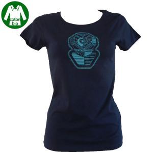 T-Shirt UNDERWATER MARINE NARKOZ Dame Bleu