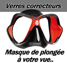 Masque de plongée avec verres correcteurs